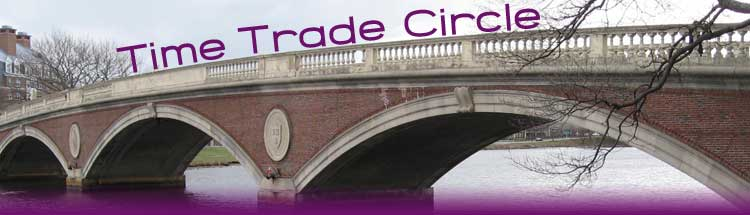 Time Trade Circle Header image of a bridge over the Charles River